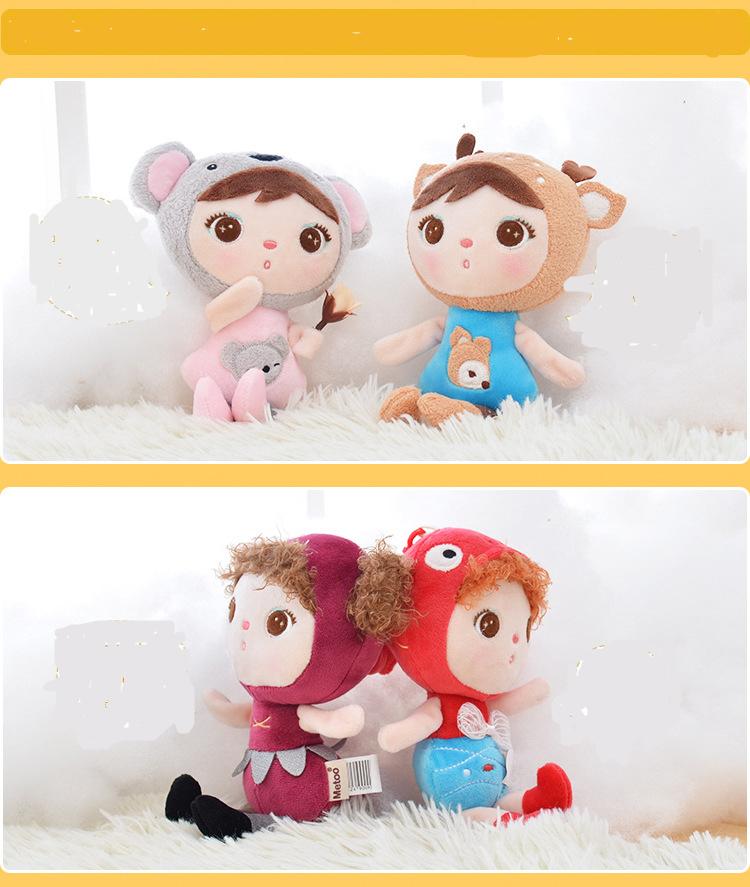 Mini Metoo Doll Soft Plush Toys Stuffed Animals For Girls Baby Cute Beautiful Rabbit Small Keychians Pendant For Kids Boys