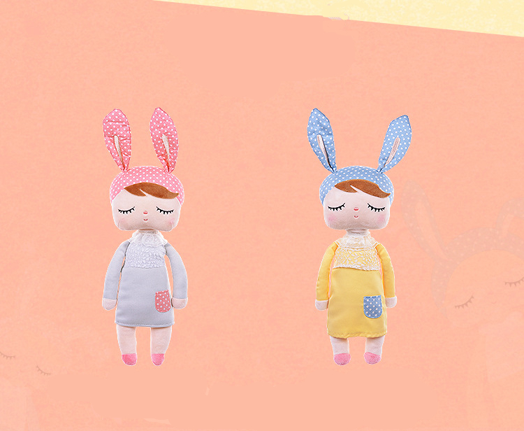 2 Piece Metoo Doll Soft Plush Toys For Girls Baby Cute Rabbit Beautiful Angela Stuffed Animals For Kids