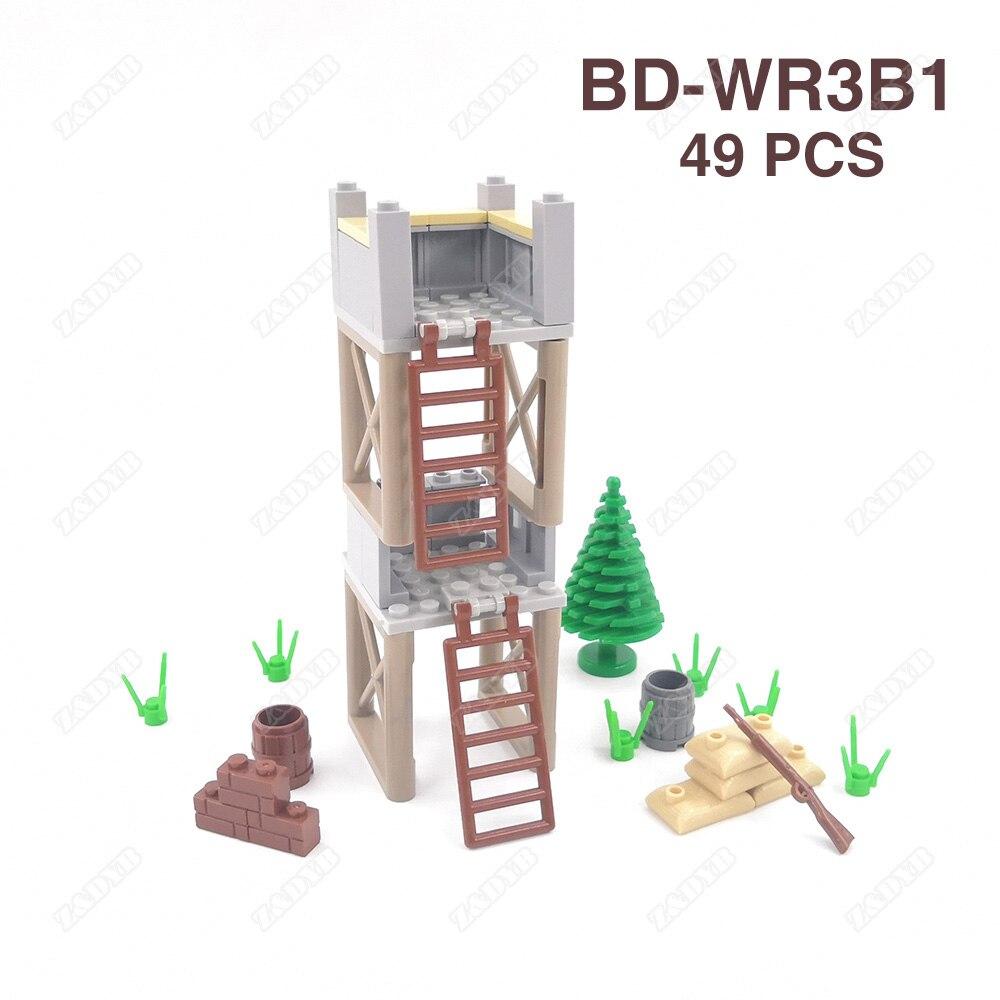DIY Military Weapon Gun WW2 MOC Accessories Part Mini Soldier Base Figure Playmobil Model Toys