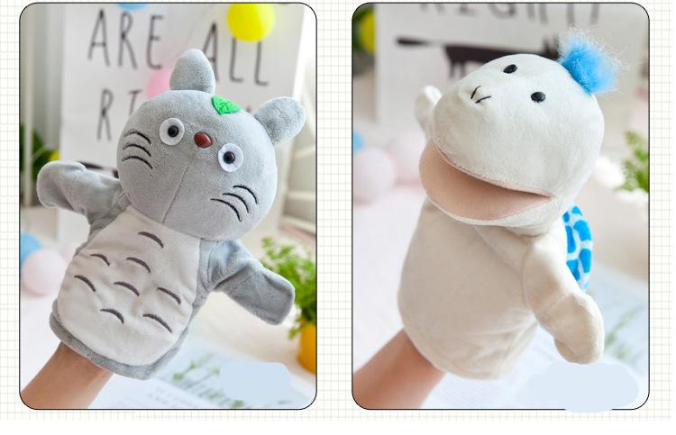 Animal Plush Hand Puppets Childhood Kids Cute Soft Toy Elephant Lione Monkey Shape Story Pretend Playing Dolls Gift For Children