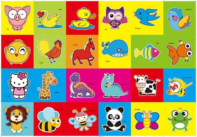 48pcs Children Cartoon DIY Colorful Paper Cutting Folding Toys kingergarden Kids Educational Art Craft with scissor Tools Gifts