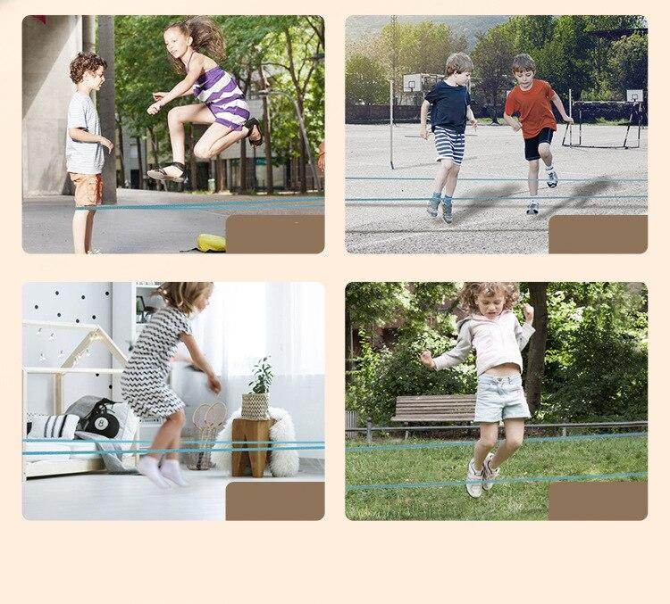 Classic Kids Outdoor Jump Game Elastic Rubber Jump Rope Toys For Children Outside Party Sport Family Cooperation Educational Toy