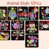 12PCS Animal Style